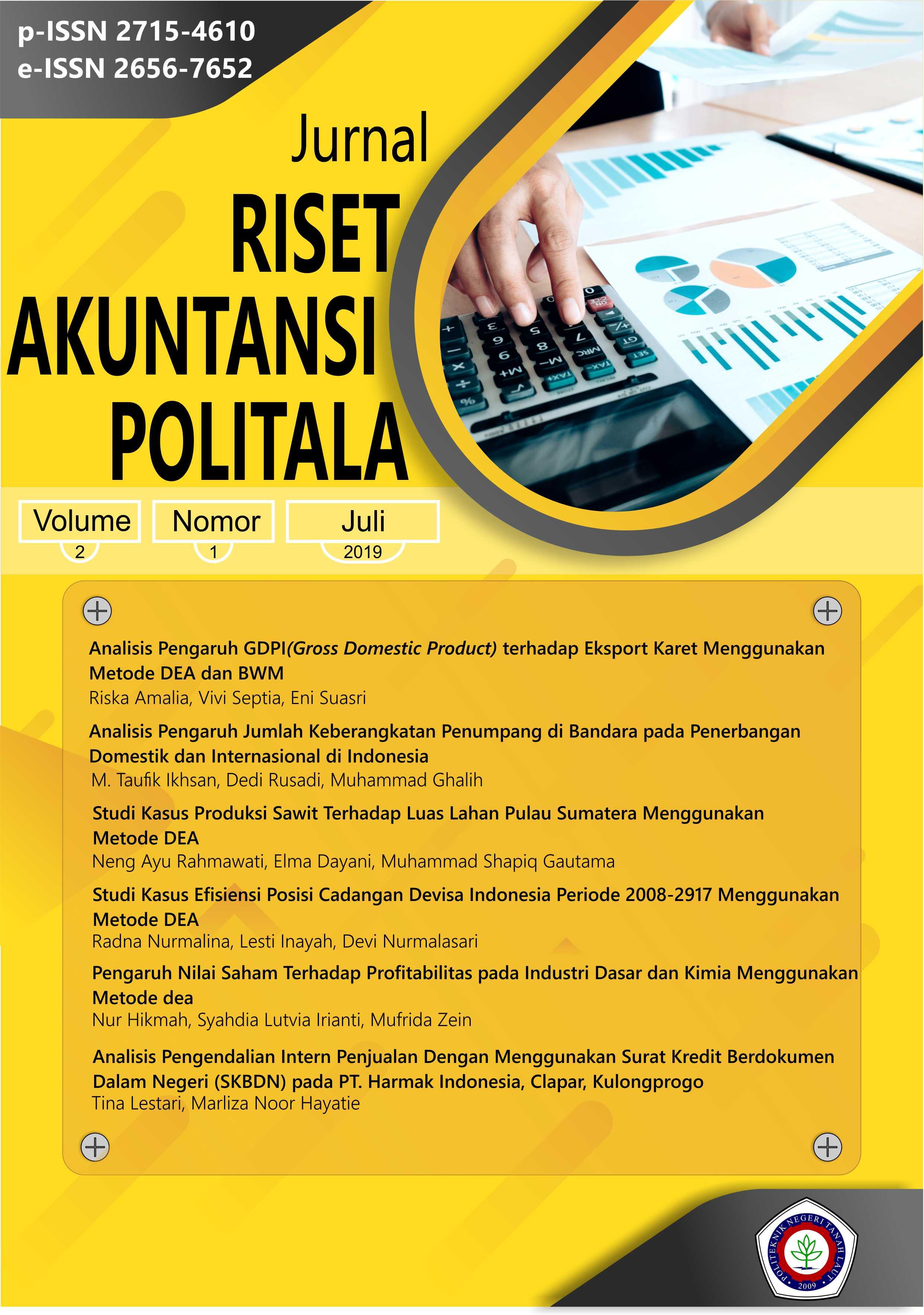 View Vol. 2 No. 1 (2019): Jurnal Riset Akuntansi Politala