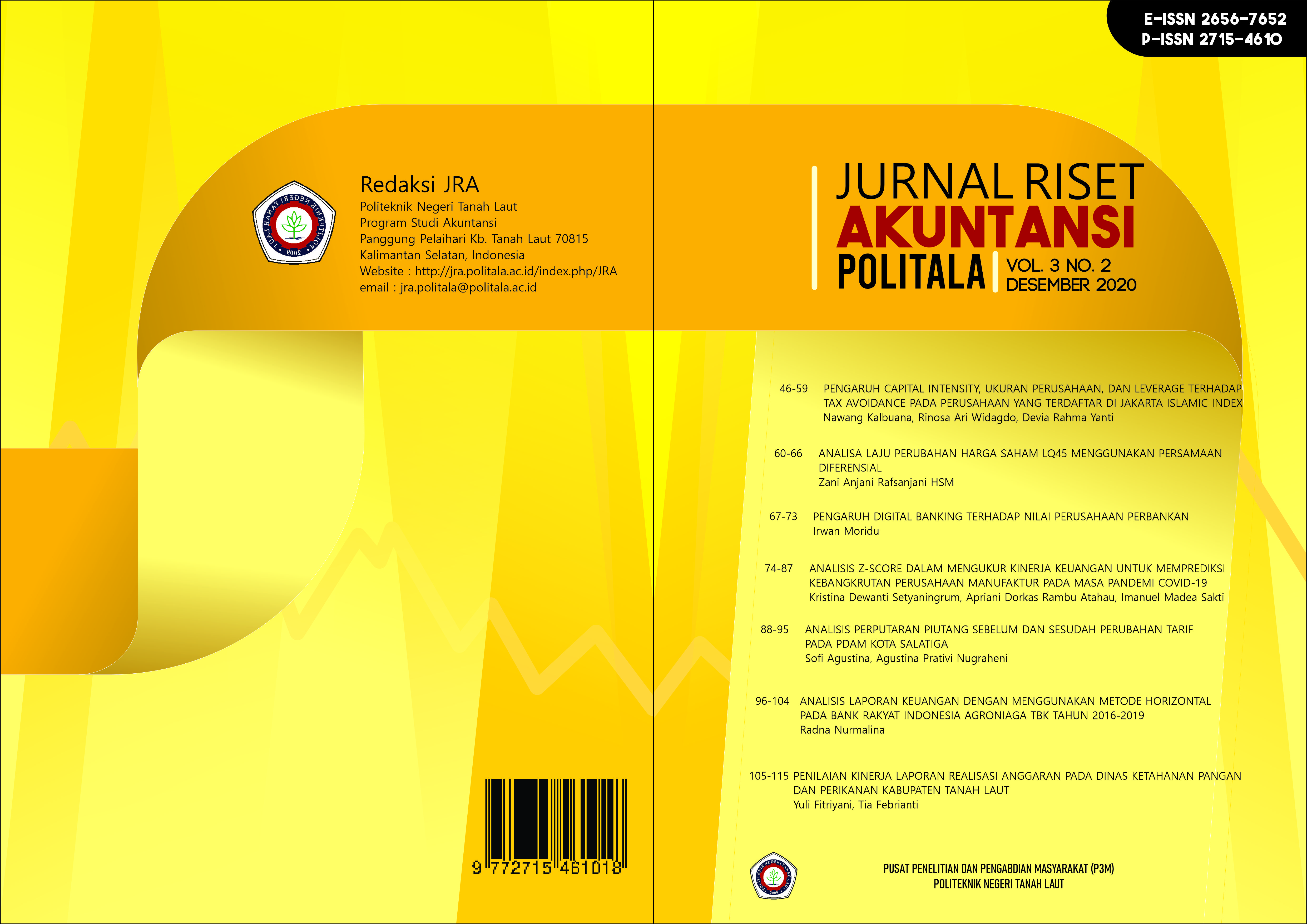 View Vol. 3 No. 2 (2020): Jurnal Riset Akuntansi Politala